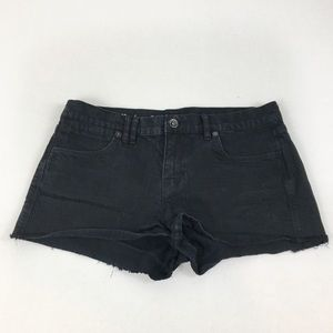 Madewell Black Denim Cutoff High Waisted Shorts